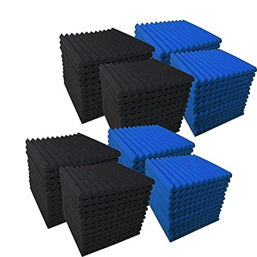 Allxinlog - Paneles de espuma acústica, absorben el eco, para insonorizar estudios, para pared, 30,48 cm x 30,48 cm x 2,54 cm, paquete de 96