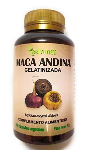 Maca Andina Gelatinizada. Máxima asimilación. Sin gluten No-OMG Orgánica y Vegana. Energía, Fertilidad y Salud Sexual para mujeres y hombres. Producto peruano