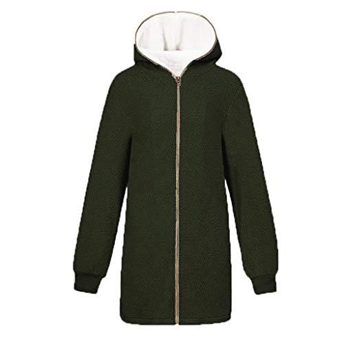 Mantel Jacke Dick Reißverschluss Schlank Mantel Oberteile Einfarbig Party