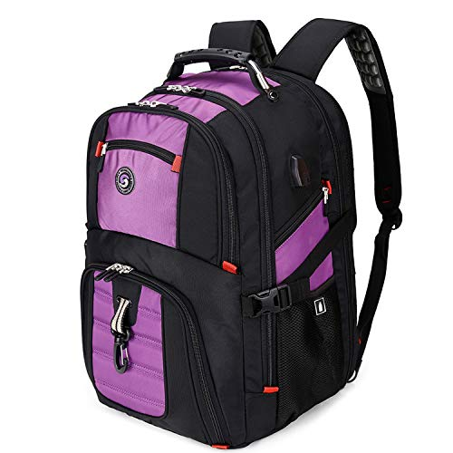 Extra Large Durable 50L Travel Laptop Backpack with USB Charging Port fit 17 Inch Laptops for Men Women