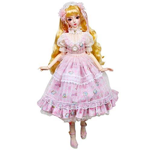 YNSW Muñeca BJD, Vestido De Princesa Blanca Rosa Estilo Antiguo 1/3 BJD SD Doll Girl 24