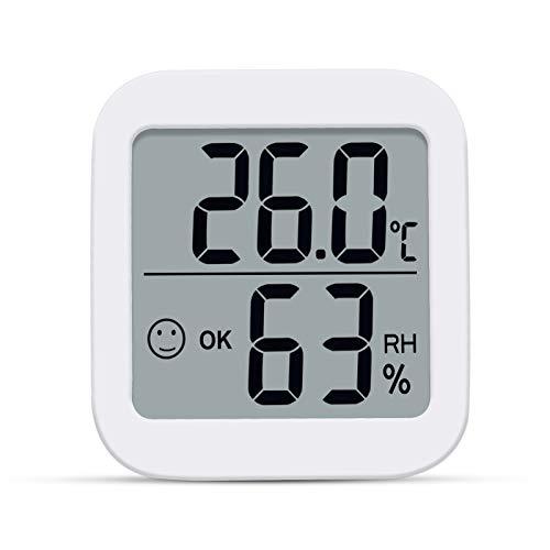 Aplusdeal Termometro Ambiente Igrometro Digitale misuratore umidità Termoigrometro da Interno per Casa Monitor di Temperatura e umidità per Ambienti con Livello di Comfort, Bianco
