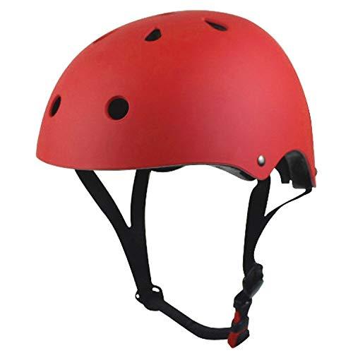 Flying Hedwig Kinder Reithelm,Verstellbarer BMX-Helm,Skateboard Kinder Kinderhelm Fahrradhelm für Fahrrad Skateboard 3-13 Jahr (Rot, M (54-58 cm))