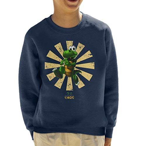 Cloud City 7 Croc Retro Japans sweatshirt voor kinderen