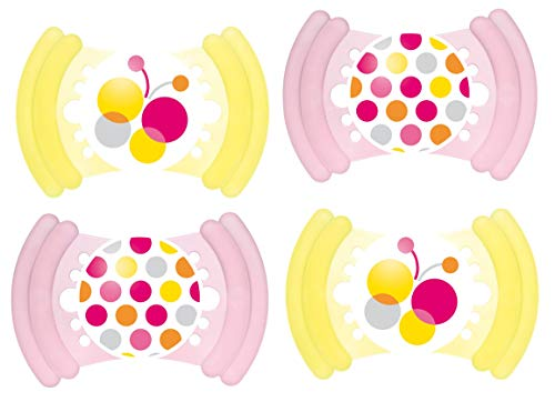 MAM Soft Latex 16+, Schnuller, 4er Set, für Mädchen
