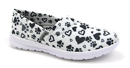 Ocean Women's Cute Memory Foam Nursing Shoes - Printed -...