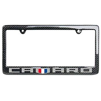 West Coast Camaro - Camaro 6th Generation Carbon Fiber License Plate Frame  Badge Logo