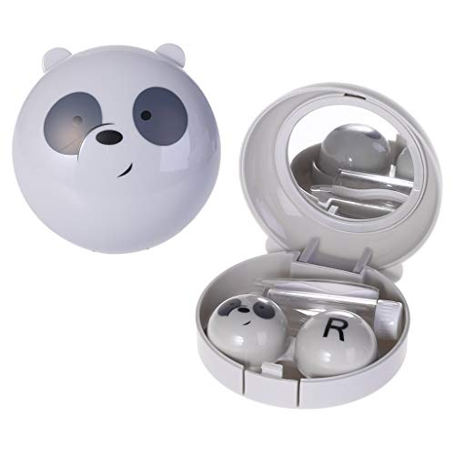A0127 Tragbare niedliche Cartoon Runde Milch B?r Reise Kontaktlinsen Fall Eye Care Kit