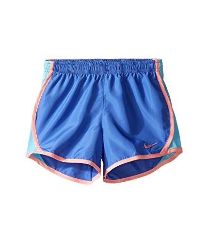 Nike Tempo - Pantalón corto para niña, color negro, Niñas, color Bleu Comet (327358-b9a) / Pêche / Bleu D'eau, tamaño 6XL