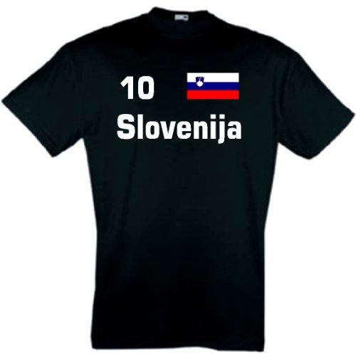 world-of-shirt Herren T-Shirt Slowenien/Slovenja Trikot 1-