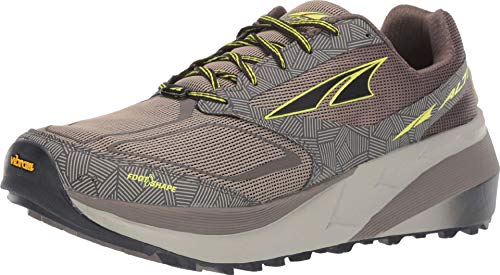 ALTRA Men's Olympus 3.5 Trail Running Shoe, Gray/Lime - 11 M US