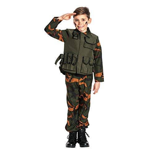 Kostümplanet® Militär Kostüm Kinder Militärkostüm Soldat Kostüm Jungen Soldatenkostüm Größe 140