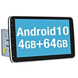 Vanku 10.1 Inch Android 10 Double Din Car Stereo with 4GB RAM, GPS, Detachable Touchscreen, WiFi, Support Android Auto, Backup Camera, USB SD