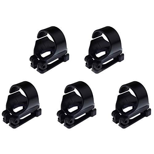 POFET 5er Pack Scuba Dive Universal Kunststoff Clip Schnorchelhalter Rohrhalter, schwarz