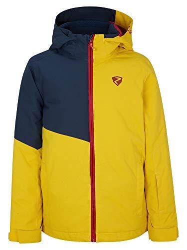 Ziener Jungen ABIAN Junior Kinder Skijacke, Winterjacke | Wasserdicht, Winddicht, Warm, Mustard, 152