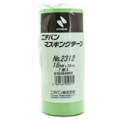 No.2312 車輌用マスキングテープ 18ミリ×18M 7P [養生テープ]