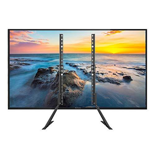 XRJ Porta TV Moderno Risparmio di Spazio TV Supporto TV Supporto da Tavolo for la Maggior Parte da 32 a 65 Pollici Schermo Pratico Stand TV (Color : Black, Size : 32-65 Inches)