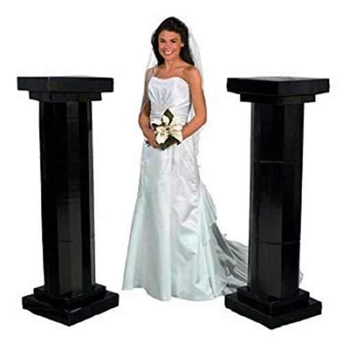 Medium Black Fluted Pillars - Party Decorations & Arches & Columns 4.5'
