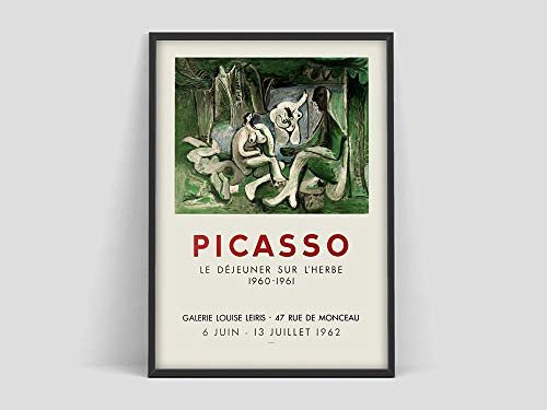 Pablo Picasso Plakate, Retro Kunstausstellungsplakate, Museumsausstellungskunst, Pablo Picasso, Kunstmuseum druckt nach Hause rahmenlose Dekoration A106 50x70cm