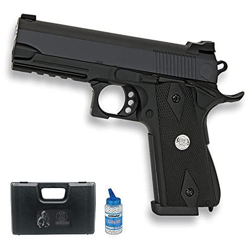 Pistola de Airsoft Golden Eagle 3041 | Arma de Bolas de PVC Calibre 6mm Color Negro. Sistema: Muelle