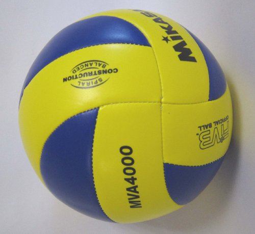 『ミカサ(MIKASA) バレーボール 4号 レクリエーション レジャー用 (中学生・婦人用) イエロー/ブルー 推奨内圧0.25(kgf/㎠) MVA4000』の2枚目の画像