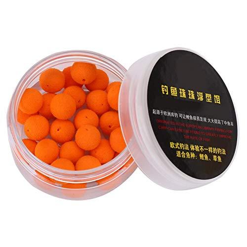 Pwshymi 30Pcs 10/12mm Schaum Angelköder Pop Up Boilies Weiche Pellets Ball Karpfen Schwimmköder Fischfutter Nest Tool(12MM-Orange)