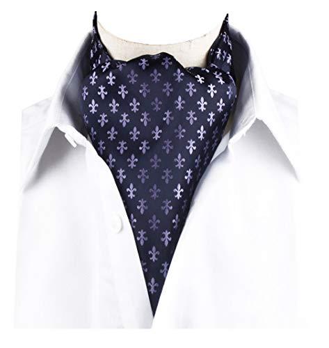 STTLZMC Mens Paisley Jacquard Polka Dot Tie Cravat Ascot Scarf Wedding NeckTies
