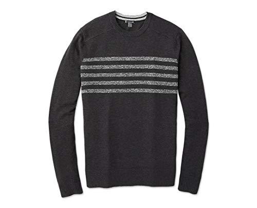 Smartwool Sparwood Pattern Crew Sweater - Men's Merino Wool Sweater Charcoal Heather Large