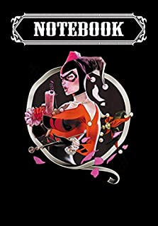 Notebook: Harley Quinn Harley Q, Journal 6 x 9, 100 Page Blank Lined Paperback Journal/Notebook