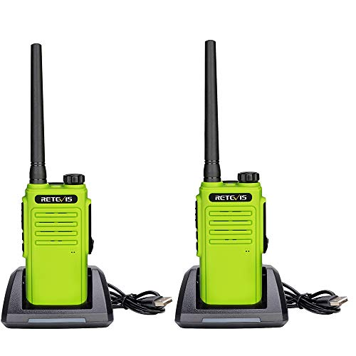 Retevis RT647 Wakie Talkie Impermeable, Licencia Libre PMR446, 16 Canales IP67 Walkie-Talkie Manos Libres, Escanear CTCSS/DCS Monitor (Verde, 4 Piezas)