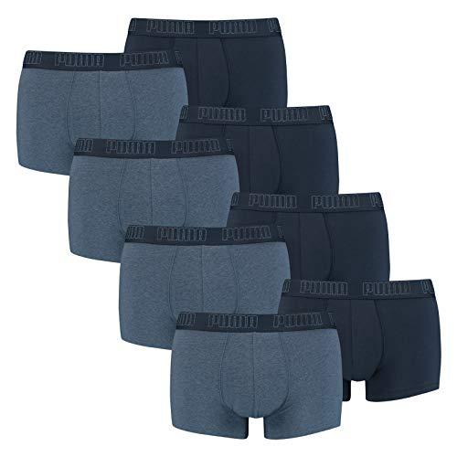 PUMA 8 er Pack Short Boxer Boxershorts Men Pant Unterwäsche kurz 100000884, Farbe:007 - Denim, Bekleidungsgröße:L