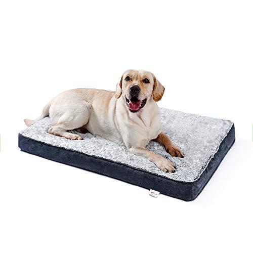 PAWZ Road Mantas para Perros Cama para Mascotas Estera para Perros Cama para Perros Cama para Gatos Cajas de Espuma de Memoria cálida Lavable Gris