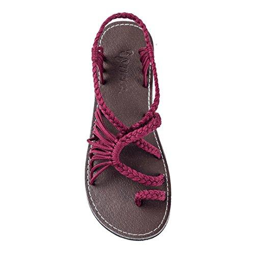 Plaka Palm Leaf Flat Summer Sandals for Women | Perfect for The Beach Walking & Dressy...