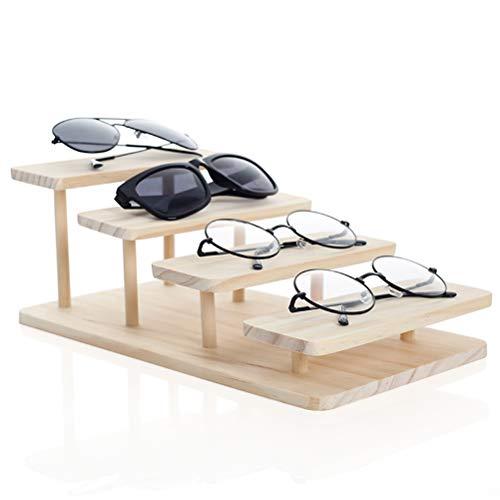 GFPR Assembleable Bambus Sonnenbrille Brille Display Schmuck Halter Armband Uhren Zeigen Produkt Multilayer 4 Layer