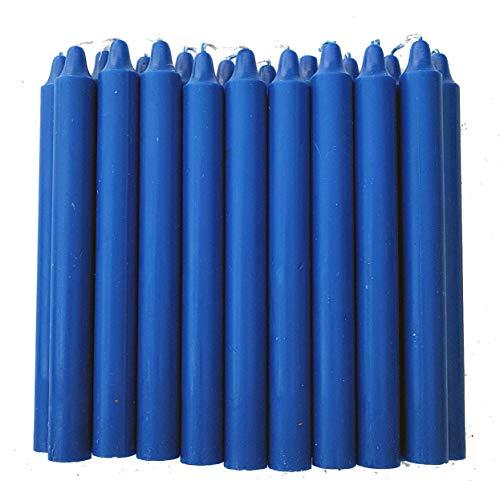 Vela candelabro Color Azul 19 cm x 2 cm.