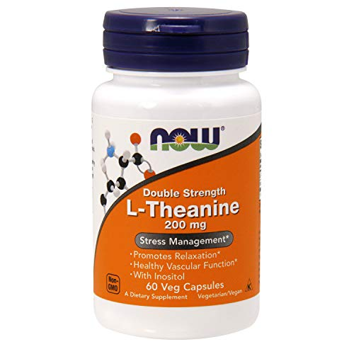 Now Foods L-Theanine 200mg Standard, 60 Kapseln