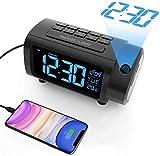 Mpow Reloj Despertador de Proyección, Radio Despertador, Reloj Despertadores Digitales, Dígito...
