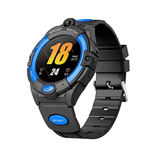 QNMM I10 Reloj Inteligente para Niños, IP67 Impermeable 4G GPS Monitorización de La Frecuencia Cardíaca Y La Presión Arterial Rastreador Smartwatch WiFi Tarjeta SIM, para Niños Android iOS