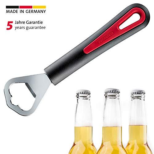 Westmark Flaschenöffner, Kronkorkenöffner, Länge: 17 cm, Stahl/Kunststoff, Gallant, Schwarz/Rot, 29082270