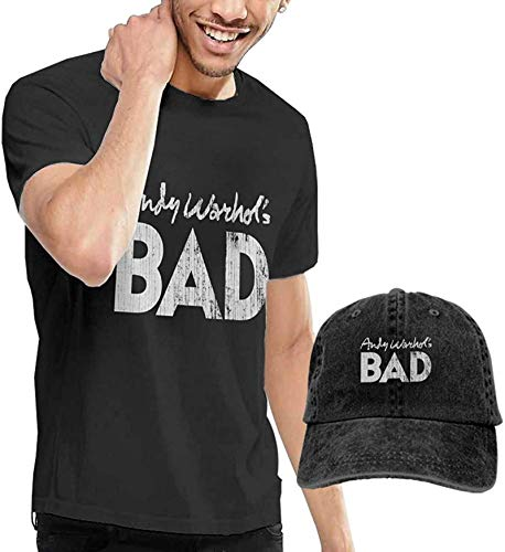 Fssatung an-dy War-hols Bad Men's T-Shirt and Hats for Teenager Black,XX-Large