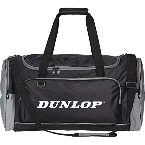Dunlop Sports Bag Men's Travel Bag Weekender with Shoe Compartment and Wet Compartment, Fitness Bag for Men and Women, Bag for Sports, Fitness, Gym, Travel Bag, Duffel Bag (Medium: 54 x 28 x 30 cm)