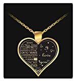 Uncle Seal I Love My Wife Charm - Gold Color Necklace Heart - Gift for Her