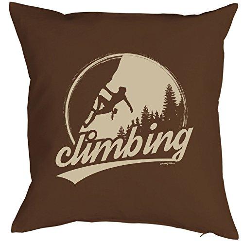 Coussin : Climbing escalade Sommet Mountain Petit présente avec motif imprimé
