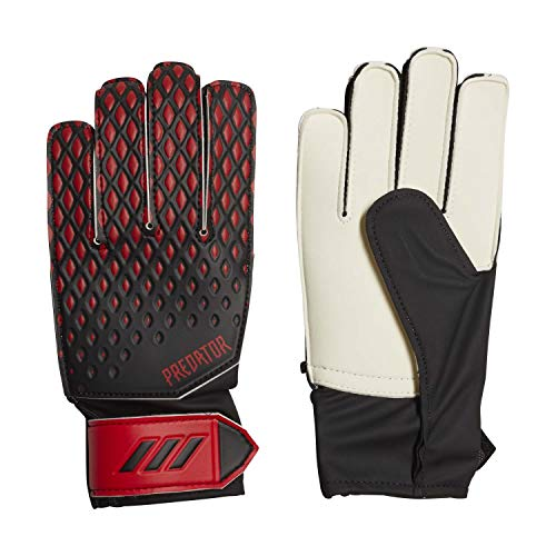 adidas Pred GL Trn J Guantes de Fútbol, Unisex niños, Black/Active Red, 7