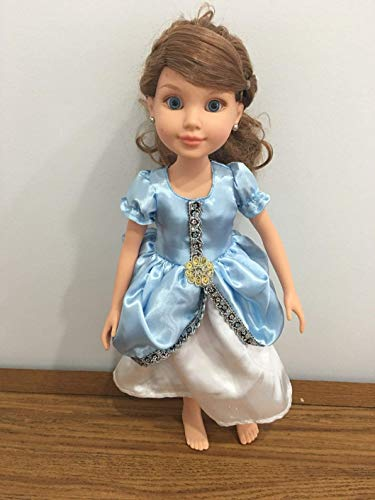 """Fits Slim 18"""" Best Friends Club Doll BFC Ink Doll Princess Cinderella Inspired Dress Clothes Only"""