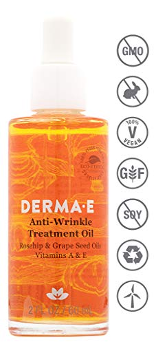 DERMA E Fragrance-Free Anti-Wrinkle Treatment Oil, 2 oz