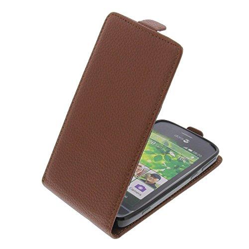 foto-kontor Tasche für Doro Liberto 820 Smartphone Flipstyle Schutz Hülle braun