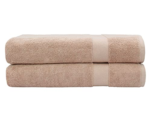 COTTON CRAFT Hotel Luxury Spa Set of 2 Bath Sheets, Oversized Ringspun Cotton 700GSM, 40 inch x 80 inch, Linen
