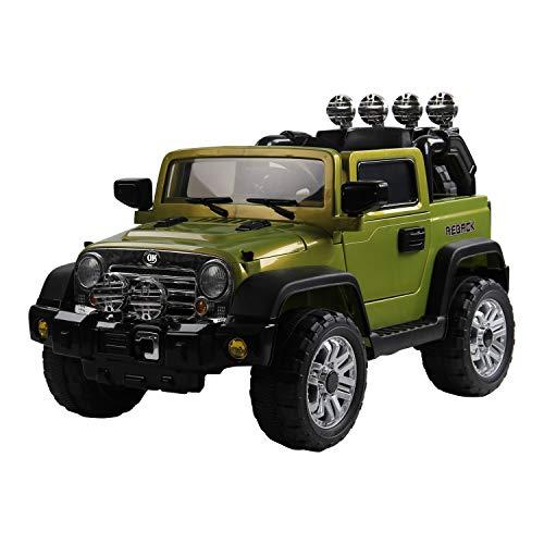 HOMCOM Vehículo Eléctrico Infantil con MP3 Luces y Sonidos Coche Eléctrico para Niños Carga 30kg para 3 Años+ 118x74x75cm