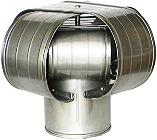 """6"""" Stainless Steel Vacu-Stack Chimney Cap for Solid Pack Chimney Pipe"""
